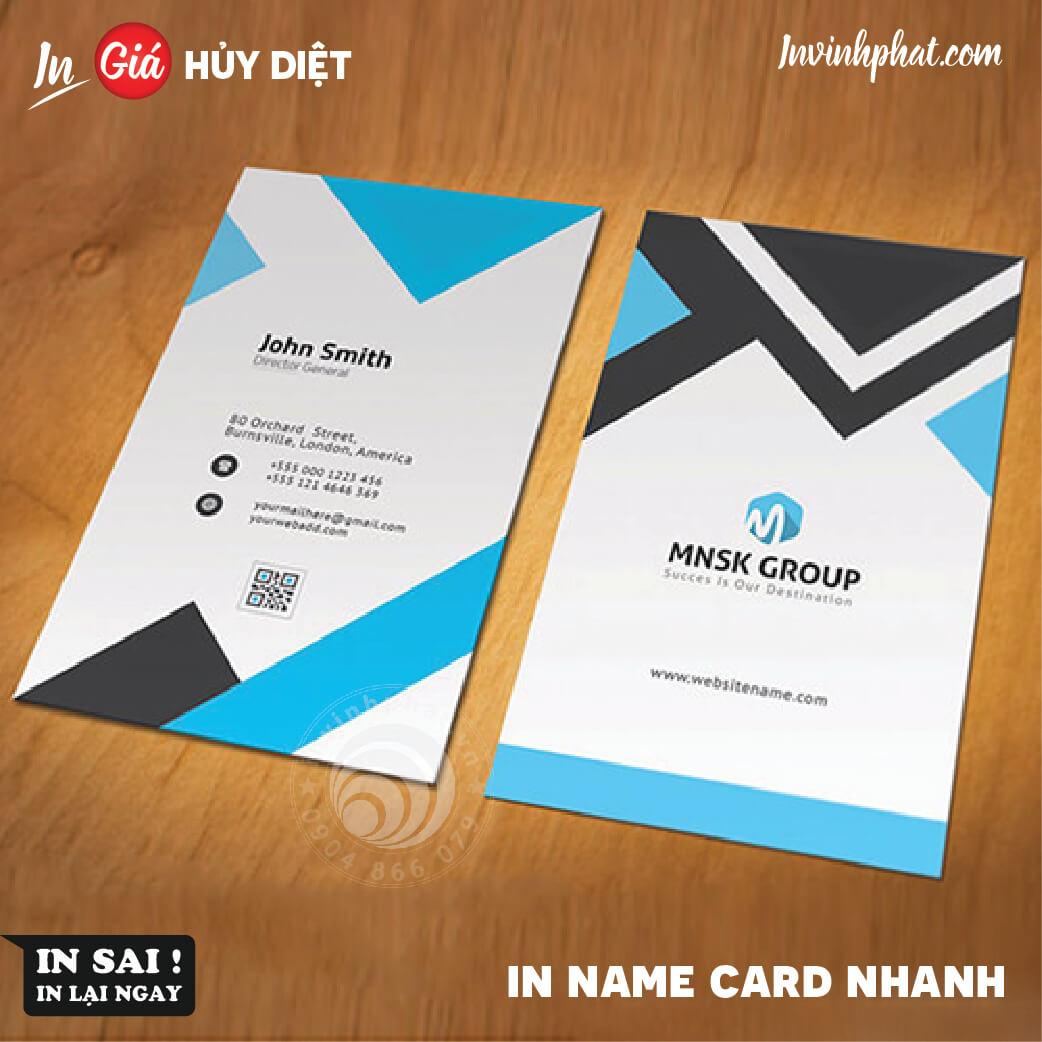 In Name card nhanh giá rẻ nhất